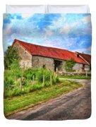 Long Barns Near Avincey - P4a16016 Duvet Cover