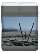 Long Beach Summer Days Duvet Cover