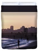 Long Beach Sunset Duvet Cover