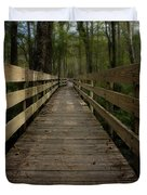 Long Boardwalk Through The Wetlands Duvet Cover