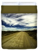 Long Dusty Road In Jal New Mexico  Duvet Cover