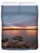Long Expo Over Connecticut Lake Duvet Cover