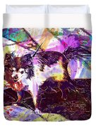 Long Haired Chihuahua Dog Pet  Duvet Cover