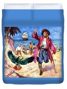 Long John Silver And His Parrot Duvet Cover