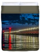 Long Lights At Grand Haven Pier Duvet Cover