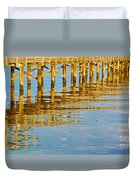 Long Wooden Pier Reflections Duvet Cover