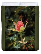 Long Stemmed Rose Duvet Cover