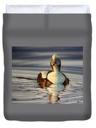 Long Tail Duck Duvet Cover