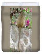 Long Tailed Flower Eater Duvet Cover