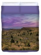 Long Winding Road In Central Oregon Duvet Cover