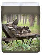 Long Winter Coming - Vintage Wheelbarrow - Casper Wyoming Duvet Cover