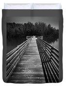 Long Wooden Bridge Duvet Cover by Kelly Hazel
