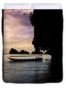 Longboat Sunset Duvet Cover