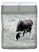 Longhorn Sketch Duvet Cover