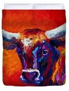 Longhorn Steer Duvet Cover