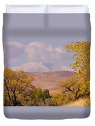 Longs Peak Diamond Autumn Shadow Duvet Cover