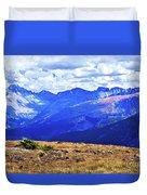 Longs Peak Rocky Mountain National Park Duvet Cover