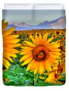 Longs Sunflowers Duvet Cover