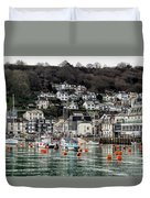 Looe Harbour - Cornwall Duvet Cover