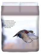Look At The Birds Duvet Cover