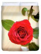 Look Down On A Rose Duvet Cover