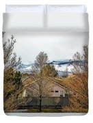 Look To The Hills Duvet Cover