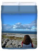 Looking At The Beautiful View Duvet Cover