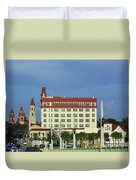 Looking Back At St Augustine Duvet Cover