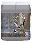 Looking Back Whitetail Deer Duvet Cover