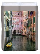 Looking Down A Venice Canal Duvet Cover