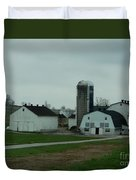 Looking Down An Amish Lane Duvet Cover