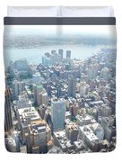 Looking Down At New York 2015  Duvet Cover