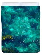Looking Down At Shellow Water Duvet Cover