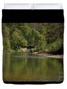 Looking Down Bryant Creek Duvet Cover