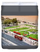 Looking Down Happy Dubai Duvet Cover