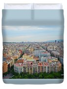 Looking Down On Barcelona From The Sagrada Familia Duvet Cover