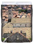 Looking Down On Old Dubrovnik Duvet Cover