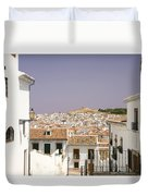 Looking Down Over Antequera  From Near The Church Of Santa Maria La Mayor  Duvet Cover