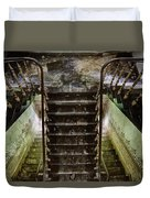 Looking Down The Stairs - Urban Exploration Duvet Cover