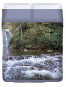 Looking Glass Falls Downstream Duvet Cover