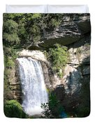 Looking Glass Falls Nc Duvet Cover