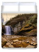Looking Glass Falls Pisgah National Forest 2 Duvet Cover