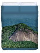 Looking Glass Rock Mountain In North Carolina Duvet Cover