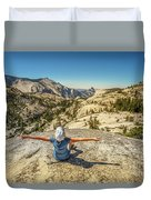 Looking Half Dome Duvet Cover
