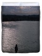 Looking Out Over A Flooded Potomac Duvet Cover