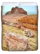 Looking Skyward From Wash 3 In Valley Of Fire Duvet Cover
