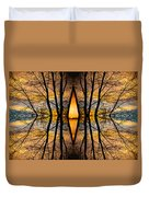 Looking Through The Trees Abstract Fine Art Duvet Cover