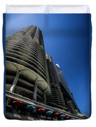 Looking Up At Chicago's Marina Towers Duvet Cover