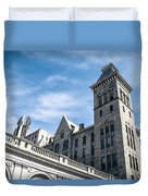 Looking Up At Old City Hall Duvet Cover