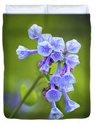 Looking Up At Virginia Bluebells  Duvet Cover